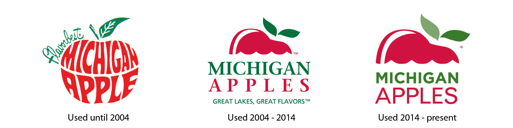 Michigan Apples Logo Evolution