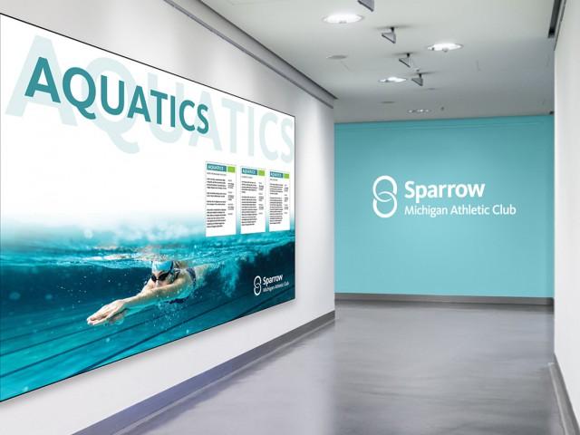 Sparrow MAC aquatics hallway