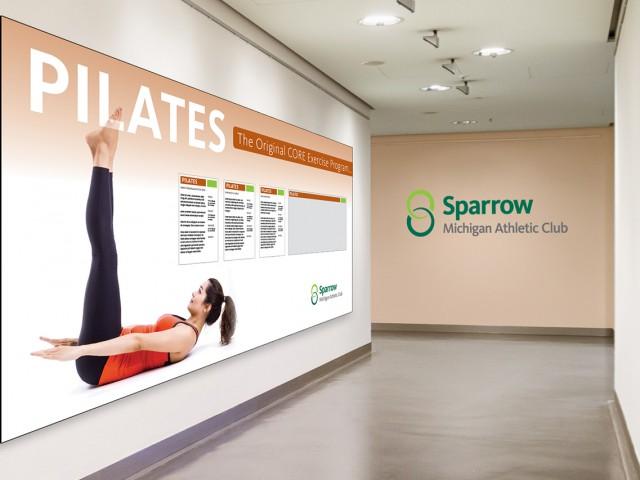 Sparrow MAC pilates hallway