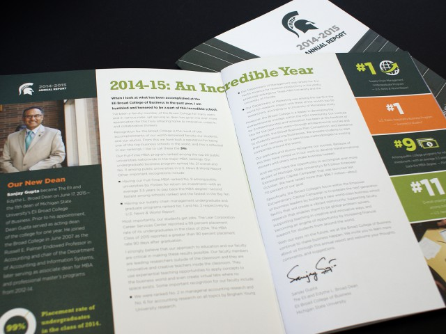 MSU Broad Annual Report Layout